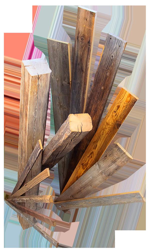 Antikes Holz, Stadlbretter, Stadllatten, handgehackte Balken Pähl Weilheim Fünfseenland Dießen am Ammersee